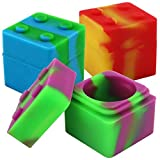 11ml Cube Shaped Heat/Cold Resistant Assorted Color Silicone Stack Jar (100 Jars)