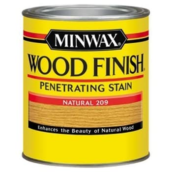 Minwax 70000444 Wood Finish Penetrating Stain Quart Natural