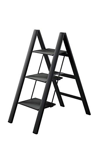 Hasegawa Ladders Slim Step Ladder, 3, Black from Hasegawa Ladders