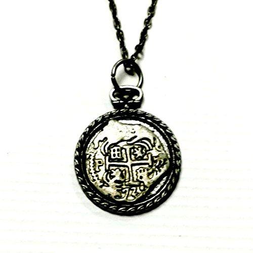 Atocha Coin Necklace Replica Spanish Galleon Treasure Handmade Gift by Aunt (Atocha Coin Pendant)