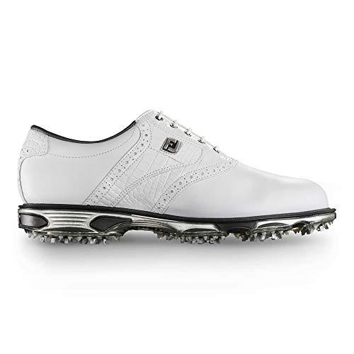 FootJoy Men's DryJoys Tour Golf Shoes White Croc, 9.5 M US