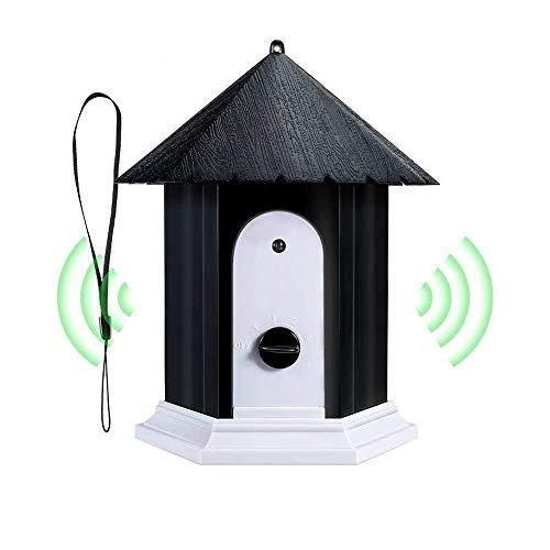 AIQNI Ultrasonic Dog Bark Control Outdoor Dog Anti Bark Preventive Stop Barking Device Cute Bird House Box Design…