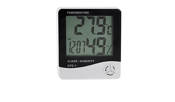 Amazon.com: eDealMax Reloj medidor de humedad higrómetro Temperatura Digital LCD Max-Min: Home & Kitchen