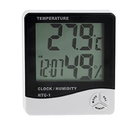 eDealMax Reloj medidor de humedad higrómetro Temperatura Digital LCD Max-Min