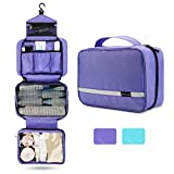 Travel Toiletry Bag for Women, Maxchange Hanging Toiletry Bag with 4 Compartments, Portable