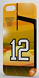 Basketball Sports Fan Player Number 12 Snap On Decorative iPhone 5/5s Case