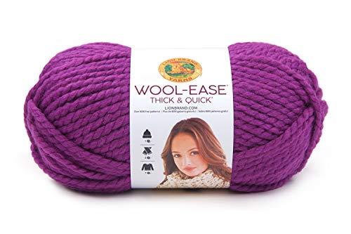 Lion Brand Yarn 640-191 Wool-Ease Thick & Quick Yarn, Lollipop