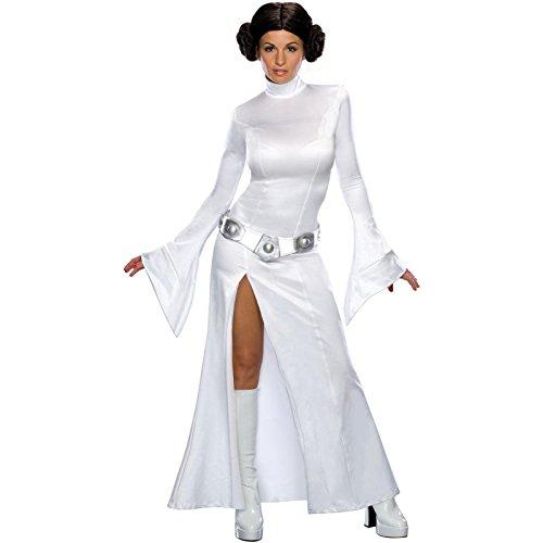 [Star Wars Sexy Princess Leia Costume Dress w/Wig Adult Women Size Large 12-14] (Star Wars Leia Sexy)