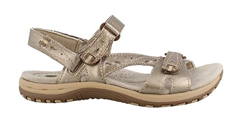 EARTH ORIGINS Womens Open Toe Casual Flat Sandals