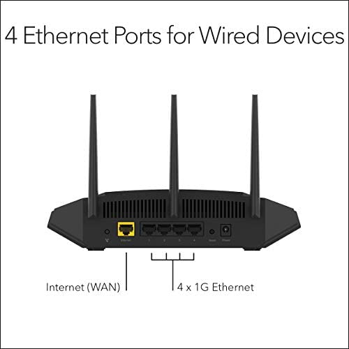 NETGEAR Wireless Desktop Access Point (WAX204) - WiFi 6 Dual-Band AX1800 AP | 4 x 1G Ethernet Ports | 802.11ax | WPA3 Security | Up to a few Separate Wireless Networks