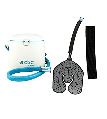 Cryotherapy - Circulating Personal Cold Water Therapy Ice Machine by Arctic Ice –with Universal Pad for Knee, Elbow, Shoulder, Back Pain, Swelling, Sprains, Inflammation, Injuries, Post Surgery Care (Unit Motorized)