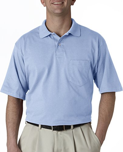 Jerzees Herren Poloshirt Gr. Medium, hellblau