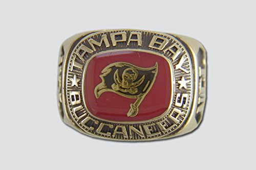 Tampa Bay Buccaneers Classic Ring, Size 8 Goldplated