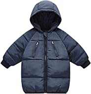 Kids Boys Girls Winter Coats Hooded Lightweight Puffer Down Jacket Warm Thicken Outwear