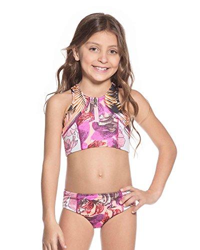 Maaji Big Girls Bikini Swimsuit, Dark Red, 14 -