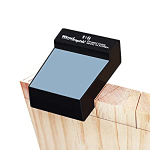 Woodraphic All New Dovetail Jig Marker Hand Magnetic Saw Guide - Suitable for All Types of Hand Saws, Magnetic Surface for Saw Fixation Silicone Skin Prevents Slipperiness and Sustains Firm Hold (1:8)