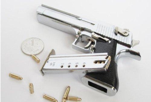 buqm Metal Handgun Desert Eagle Gun Police Toy Pistol Gun Model,Toy Gun (can not launched!)