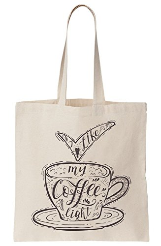 I Light Bag Typography Amazing Canvas My Artistic Tote Love Coffee 76qrwA7