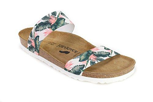 JOE N JOYCE Kreta Elastic Soft-Fußbett Sandalen Schmal Leafgreen