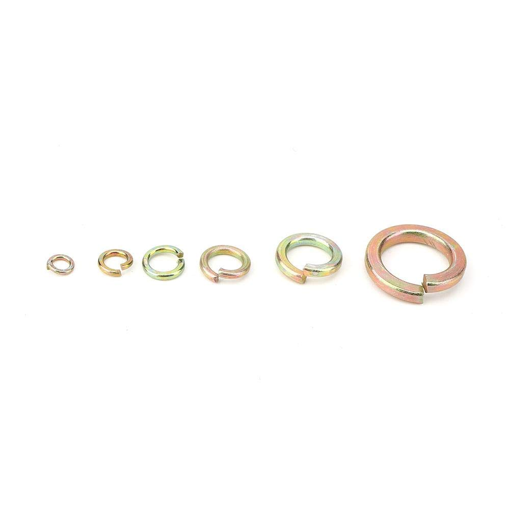 Elasticity Hardware Accessories Assortment Kit Washer Assortment Set M3//M4//M5//M6//M7//M8 for Simple DIY 8.9 x 4.3 x 1.2in with Storage Box Elastic Gasket