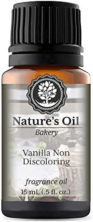 Vanilla Non Discoloring Fragrance Oil (15ml) For Diffusers, Soap Making, Candles, Lotion, Home Scents, Linen Spray, Bath Bombs, Slime