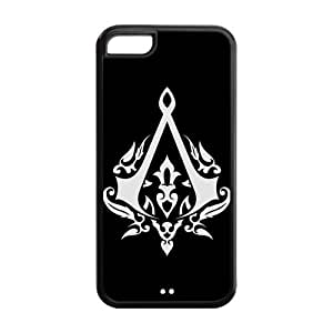 5C Phone Cases, Assassins Creed Hard TPU Rubber Cover Case for iPhone 5C