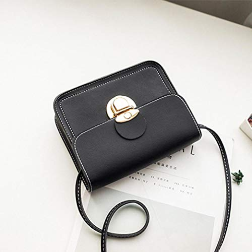 Bafaretk Bag Small Bag Phone Coin Women Shoulder Crossbody Cover Bag Solid Fashion Square BLACK rvzq0r