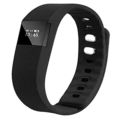 Gotd TW64 Smart Wrist Band Sleep Sports Fitness Activity Tracker Pedometer Watch, Compatible with android to IOS system, Black