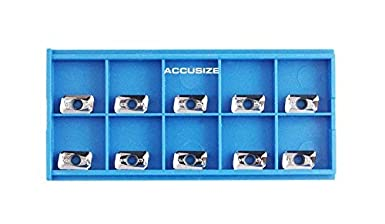 with Extra 10 Carbide Inserts for Machining Aluminum