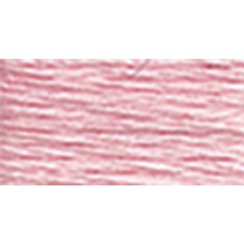 DMC 117-3689 Mouline Stranded Cotton Six Strand Embroidery Floss Thread, Light Mauve, - Cotton Strand Six Floss
