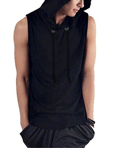 Sleeveless Hoodie Sweatshirt