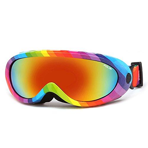 SE7VEN Lunettes De Neige,Générales Anti Brouillard élastique Réglable Pour Enfants Et Adultes Escalade Lunettes De Ski B