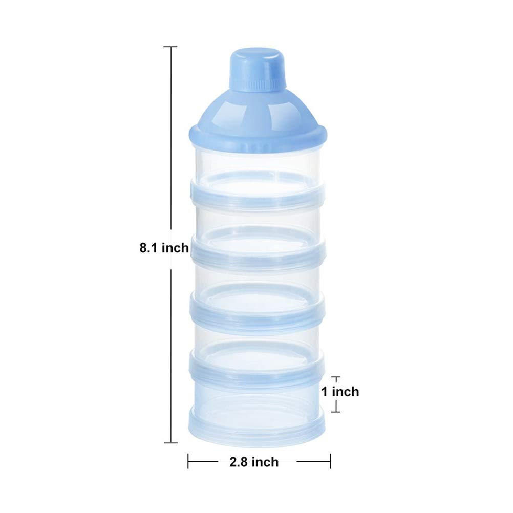 20.5 * 7cm apilable 5 Capas contenedor de Almacenamiento para Aperitivos Azul Saihua Cesta de Almacenamiento con dispensador de Leche para beb/é