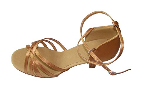 five shoes Latin red Colorfulworld tape black Bronze Ballroom bronze dance Lady satin gdSS07x