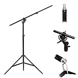 LimoStudio Premium Barn Door LED Accent Light 4500Lm / 5700K / 50W & Tripod Light Stand, Boom Stand, Weight Bag, Photography Studio, AGG1839