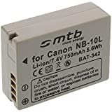 Batería NB-10L para Canon PowerShot G15, G1X, SX40 HS, SX50 HS... (ver descripción)