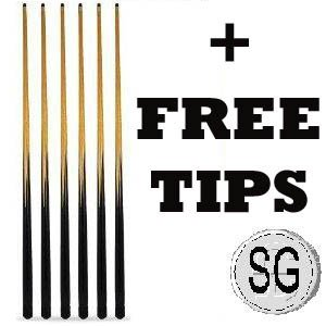 ** 6 x 57 POOL CUES SPARE TIPS