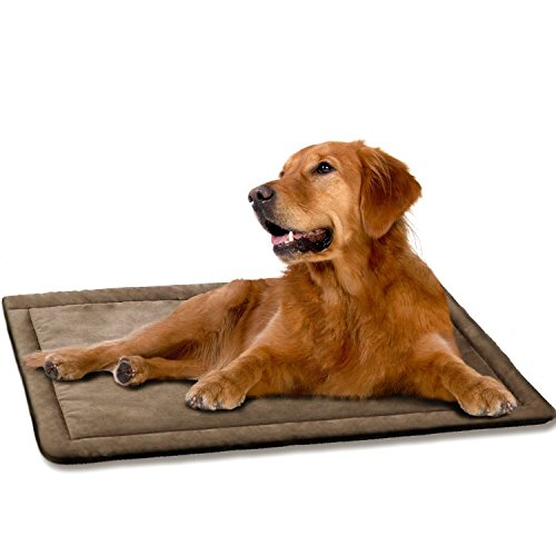 DogJog Dog Kennel pad Washable Mat Warm Breathable Comfortable Dog Bed for Crate (40 x 26)