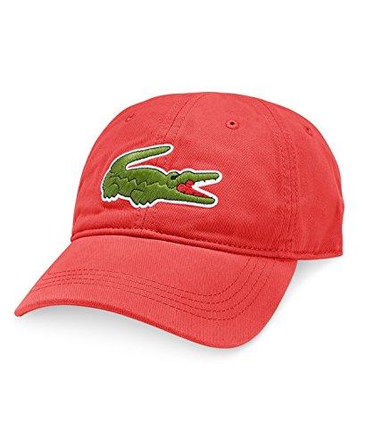 Lacoste Large Croc Gabardine Cap Sierra Red One Size