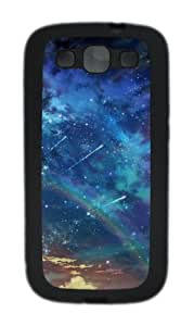 Colorful Space Landscape TPU Case Cover for Samsung Galaxy S3 Case and Cover - Black