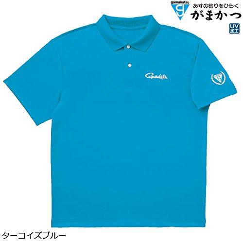 또한 고 (Gamakatsu) 폴로 셔츠 반 팔 M 청록색 GM-3450 / Gamakatsu Polo Shirt Short Sleeve M Turquoise Blue GM-3450