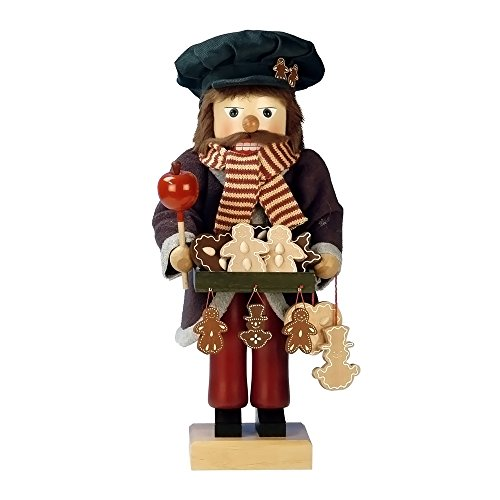 0-385 - Christian Ulbricht Nutcracker - Gingerbread Vendor - Ltd Edition 1000 pcs - 18''''H x 7.5''''W x 7.5''''D by Alexander Taron Importer