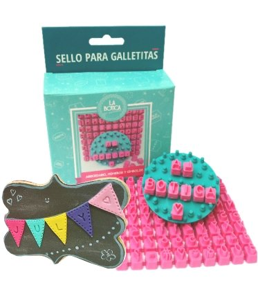 Cookie & Fondant Stamper - pro Customizable Set with Separate Letters Numbers and Symbols - Create Personalized Messages by La Cakery Boutique