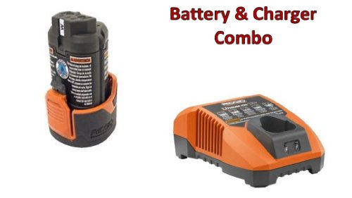 Ridgid R82009 Drill 12V Li-on Battery (R86048) & Charger (R86049) Combo Kit # 130188001-BC-140446001 by Rigid