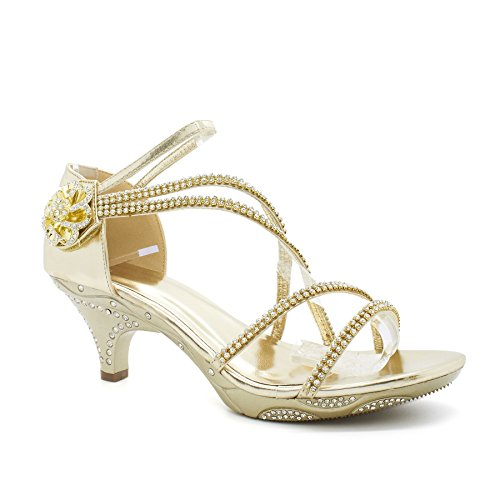 London Footwear - Sandalias de vestir para mujer Dorado - dorado