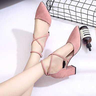 à Gros Talon 9 Confort 5 Rose 5 cm Polyuréthane Femme Confort blushing Sandales Eté Noir LvYuan Gris pink 7 ggx q86g00