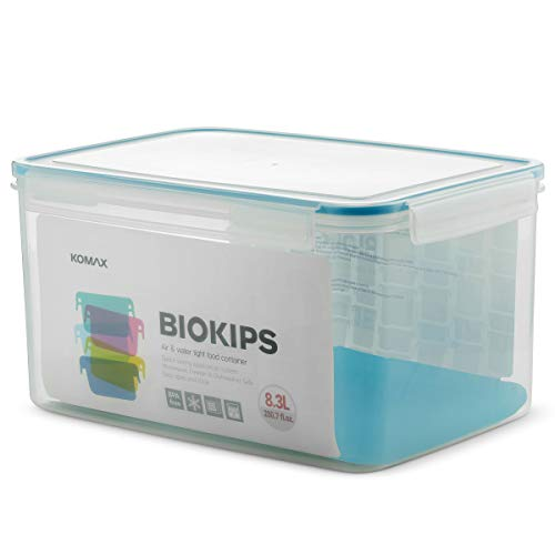 Bread Canister - Komax Biokips 35-Cup Large Food Storage Container (280 oz.). Airtight Container Suitable for Bread, Rice, Flour, Dry, Bulk Food & Baking Supplies | Rectangular, BPA Free Storage Box With Locking Lid