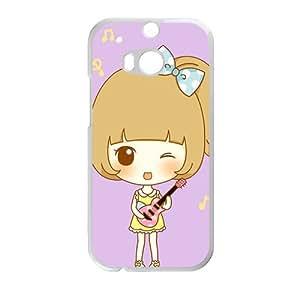 Creative phone case for HTC M8,cute music girl design