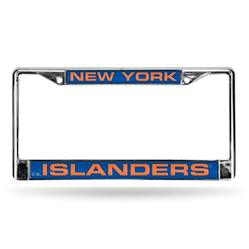 New York Islanders Laser Cut Inlaid Standard Chrome License Plate Frame (Islander Way)