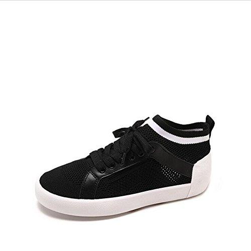 Zapatos de Las Mujeres de la Academia pequeños Zapatos Blancos, Zapatos Ocasionales Huecos Transpirables del Aumento Invisible, nuevos Zapatos del Viaje del otoño del Verano Un
